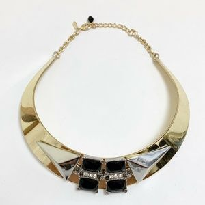 Express Statement Collar Necklace Gold Black